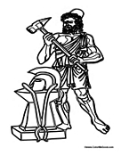 Ancient Greek Gods and Greek Heroes Coloring Pages Greek Myths