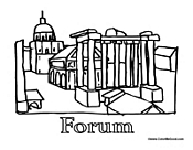 Rome Coloring Pages  Roman Coloring Pages