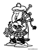 Scotland Coloring Pages | Scottish Coloring Pages