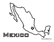Mexico coloring pages mexican coloring pages for Mexico map coloring page