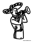 Mariachi Playing Trumpet
