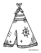 kids teepee coloring pages - photo#24