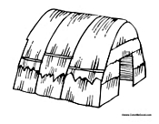 native american longhouse coloring pages - photo#11