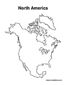 North american coloring pages for North america map coloring page