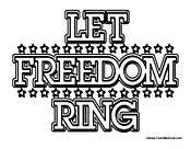 Let Freedom Ring Sign