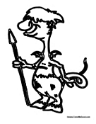 Cartoon Centaur with Spear