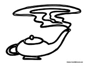 genie magic coloring pages | Genie Coloring Pages
