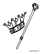 Kings Crown and Staff