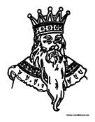 Old King with Long Beard