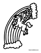 flying pony coloring pages | Pegasus Coloring Pages
