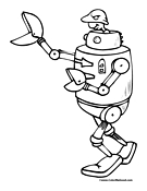 Robot Coloring Page 6