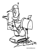 Robot Postal Worker Coloring