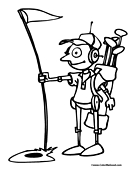 Robot Golf Coloring Page
