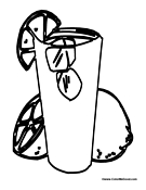 Drinks coloring pages for Lemonade coloring page