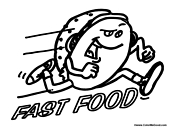 Fast Food Hamburger Running