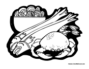 seafood coloring pages - photo#13