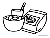 Snack Coloring Pages Snack Coloring Pages