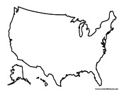 Blank USA Map of United States