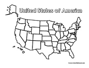 United States Blank Border Map