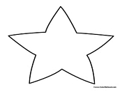 Patriotic Star to Color