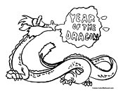 Year of the Dragon Coloring