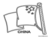 china flag coloring page - coloring a flag of china free coloring pages