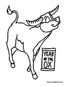 Chinese animal symbol coloring pages for Chinese new year animals coloring pages