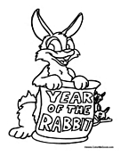yearoftherabbit00 Chinese New Year Worksheets