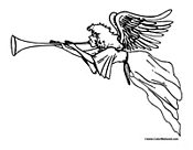 Angel Coloring Page 1