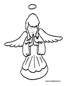 Angel Coloring Page 2