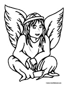 Angel Coloring Page 7