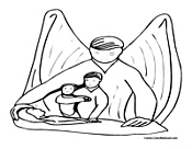 Angel Coloring Page 8