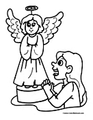 Angel Coloring Page 9