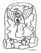 Angel Coloring Page 11