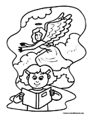 Angel Coloring Page 12