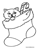 Candy Cane Coloring Page 4