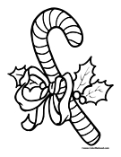 Candy Cane Coloring Page 10