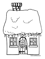 Christmas Lights Coloring Page