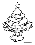 Christmas Tree Coloring Page 1