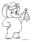 Elephant Christmas Tree
