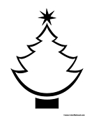 Christmas Tree Cutout Outline