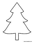 Blank Christmas Tree Cutout