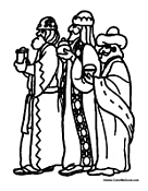 Three Wise Men with Gifts