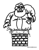 Santa Clause in Chimney