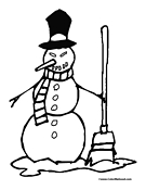 Snowman Coloring Page 2