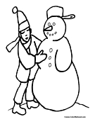Snowman Coloring Page 3