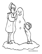 Snowman Coloring Page 4
