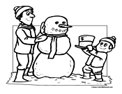 Snowman Coloring Page 8