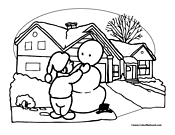 Snowman Coloring Page 9