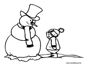 Snowman Coloring Page 13